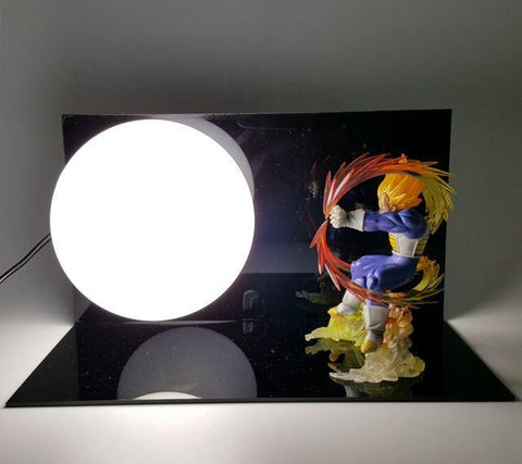 Dragon Ball Super Saiyan Vegeta Kamehameha Bedside Lamp - Saiyan Stuff