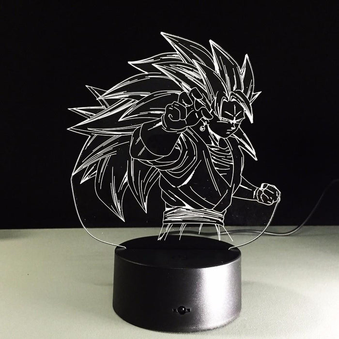 Dragon Ball Super Saiyan 3 Goku Color Changing Acrylic Panel Lamp - Saiyan Stuff - 2