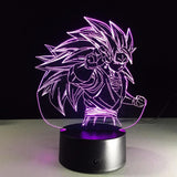 Dragon Ball Super Saiyan 3 Goku Color Changing Acrylic Panel Lamp - Saiyan Stuff - 4