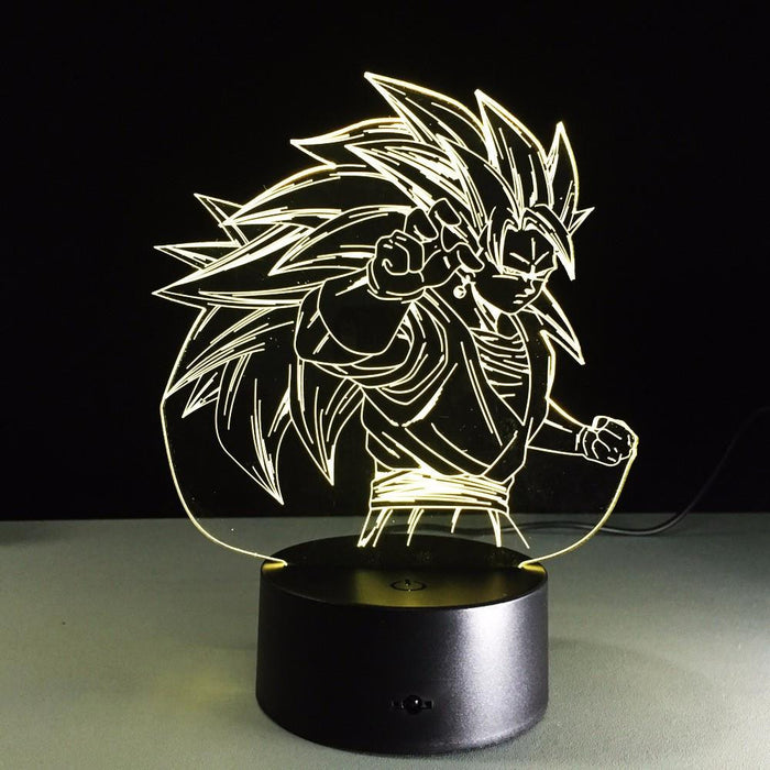 Dragon Ball Super Saiyan 3 Goku Color Changing Acrylic Panel Lamp - Saiyan Stuff - 5
