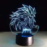 Dragon Ball Super Saiyan 3 Goku Color Changing Acrylic Panel Lamp - Saiyan Stuff - 6