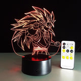 Dragon Ball Super Saiyan 3 Goku Color Changing Acrylic Panel Lamp - Saiyan Stuff - 7