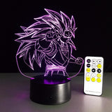 Dragon Ball Super Saiyan 3 Goku Color Changing Acrylic Panel Lamp - Saiyan Stuff - 9
