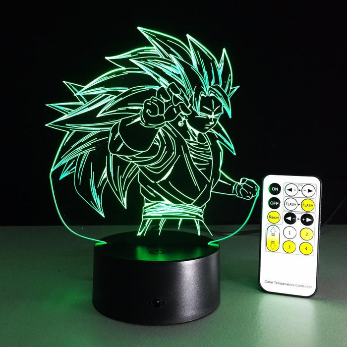 Dragon Ball Super Saiyan 3 Goku Color Changing Acrylic Panel Lamp - Saiyan Stuff - 11