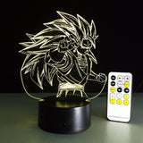 Dragon Ball Super Saiyan 3 Goku Color Changing Acrylic Panel Lamp - Saiyan Stuff - 12