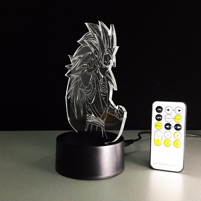 Dragon Ball Super Saiyan 3 Goku Color Changing Acrylic Panel Lamp - Saiyan Stuff - 13