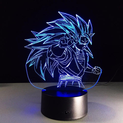Dragon Ball Super Saiyan 3 Goku Color Changing Acrylic Panel Lamp - Saiyan Stuff - 1
