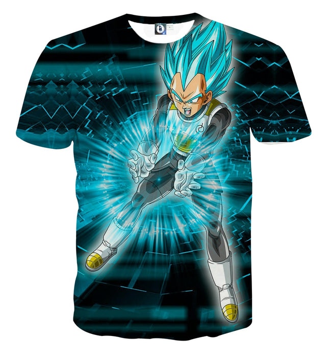 Dragon Ball Super Vegeta Blue Double Galick Gun Epic T-Shirt