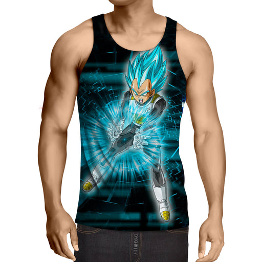 Dragon Ball Super Vegeta Blue Double Galick Gun Epic Tank Top