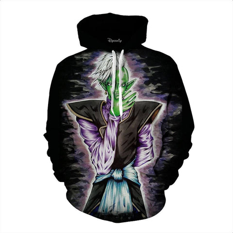 Dragon Ball Super Zamasu Supreme God Kai Manga Theme Design Hoodie