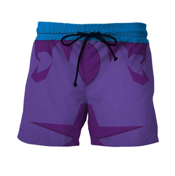 Dragon Ball Teen Gohan Purple Cosplay Outfit Swimming Trunks