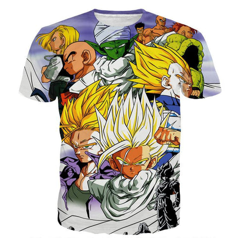Dragon Ball Trunks Gohan Young Generation Super Saiyan Color Style T-Shirt