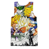 Dragon Ball Trunks Gohan Young Generation Super Saiyan Color Style Tank Top