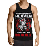 Dragon Ball Vegeta Super Saiyan Motivation Quote Design Tank Top