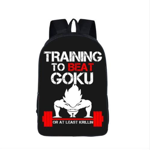 Dragon Ball Vegeta Workout Motivation School Backpack Bag