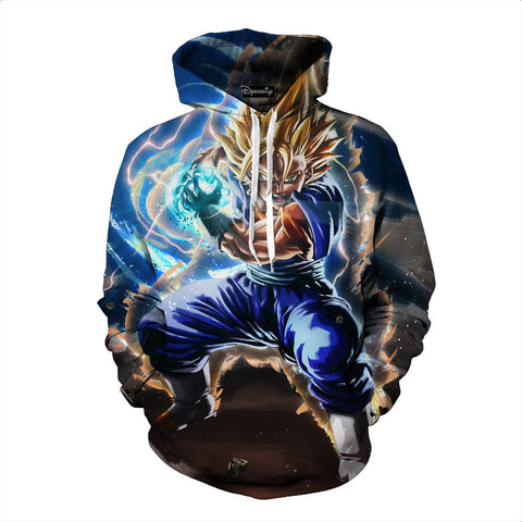 Dragon Ball Vegeto Fusion Kamehameha Powerful Skill Cool Design Hoodie