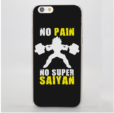 Dragon Ball Workout Motivation Quote Pain Gain iPhone 4 5 6 7 Plus Case