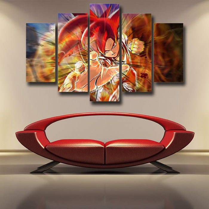 Dragon Ball Xenoverse Goku Super Saiyan Rose Burning Fire 5pc Canvas Prints