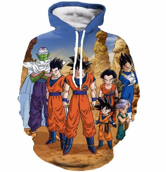 Dragon Ball Z-Fighters Team Earth's Special Forces 3D Hoodie - Saiyan Stuff