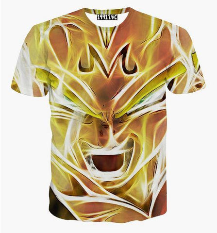 dragon ball z super saiyan majin vegeta 3d t shirt. Black Bedroom Furniture Sets. Home Design Ideas