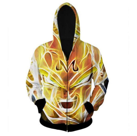 Dragon Ball Z - Super Saiyan Majin Vegeta 3D Zip Up Hoodie - Saiyan Stuff - 1