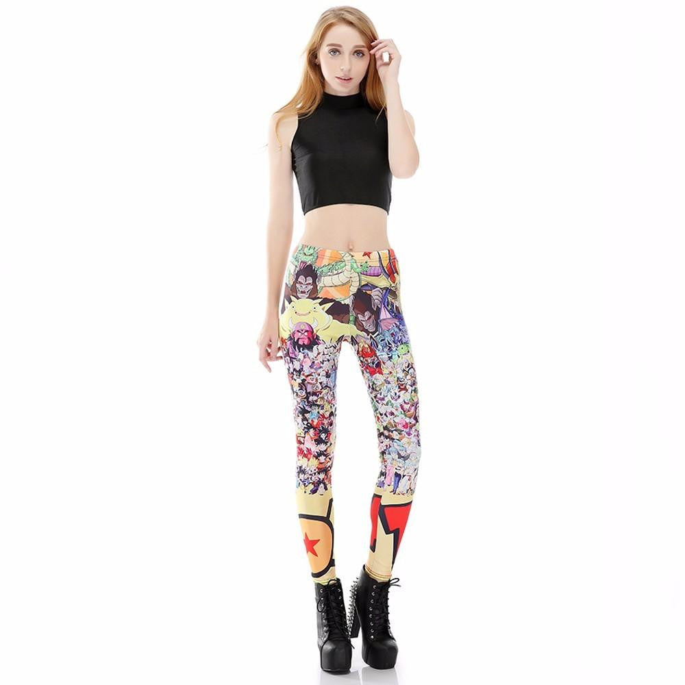 Dragon Ball Z Characters Women Compression Fitness Leggings Tights - Saiyan Stuff - 1