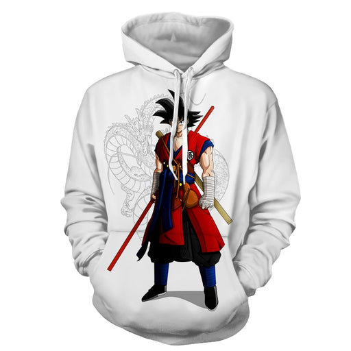 Dragon Ball Z Cool Adult Goku Fighter Attire Shenron Hoodie