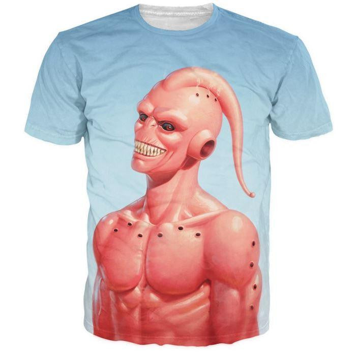 723aa409d589f4 Dragon Ball Z – Cool Super Buu Evil Majin Buu 3D T-Shirt — Saiyan Stuff
