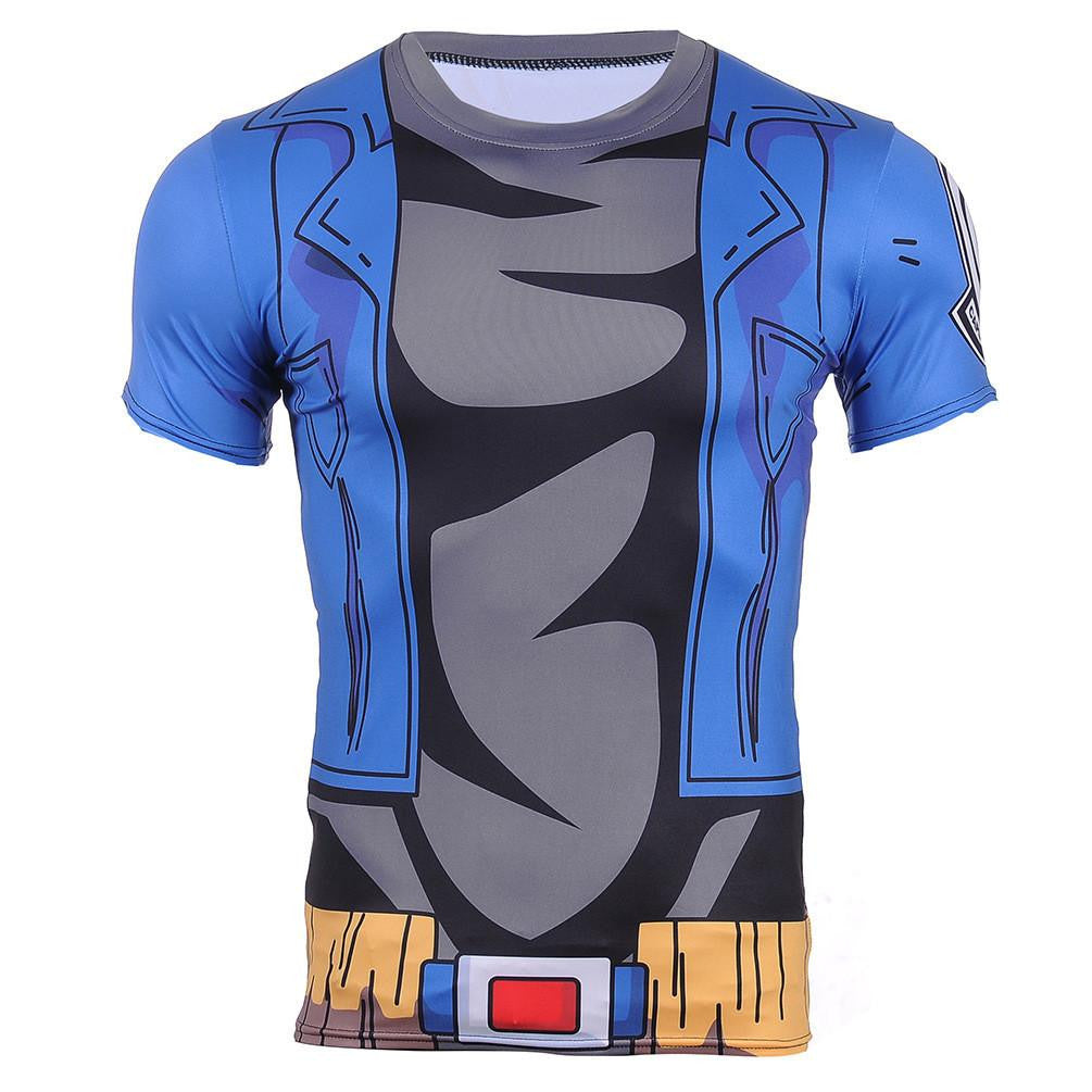 Dragon Ball Z – Cosplay Future Trunks Gear Blue 3D T-Shirt