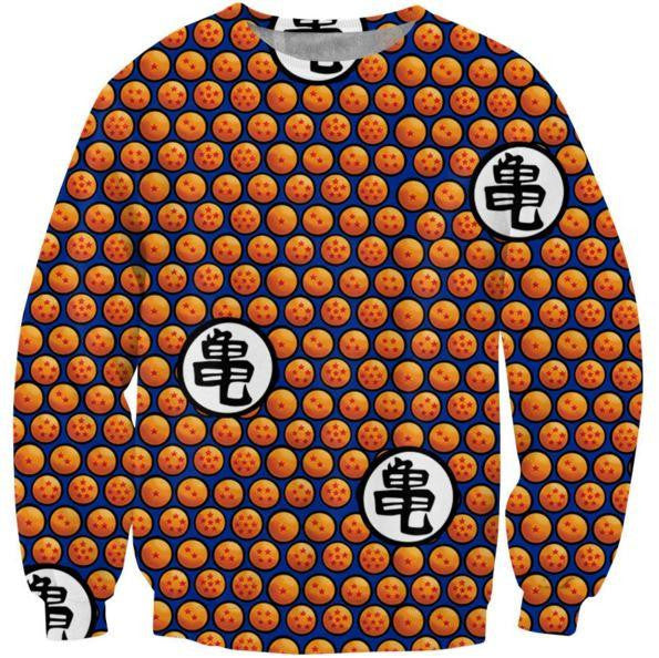 Dragon Ball Z Crystal Ball Dots Pattern Sweatshirt - Saiyan Stuff - 1