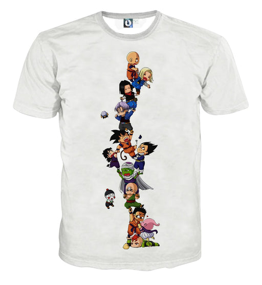 Dragon Ball Z Cute Adorable Chibi DBZ Characters White T-Shirt