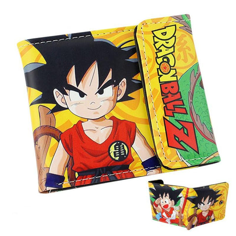 Dragon Ball Z Cute Kid Goku Yellow Wallet - Saiyan Stuff - 1