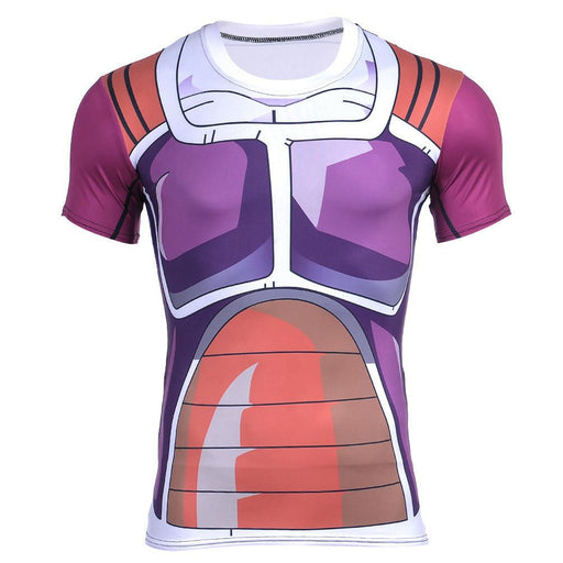 Dragon Ball Z Frieza Freeza Battle Armor Compression 3D Cosplay T-Shirt