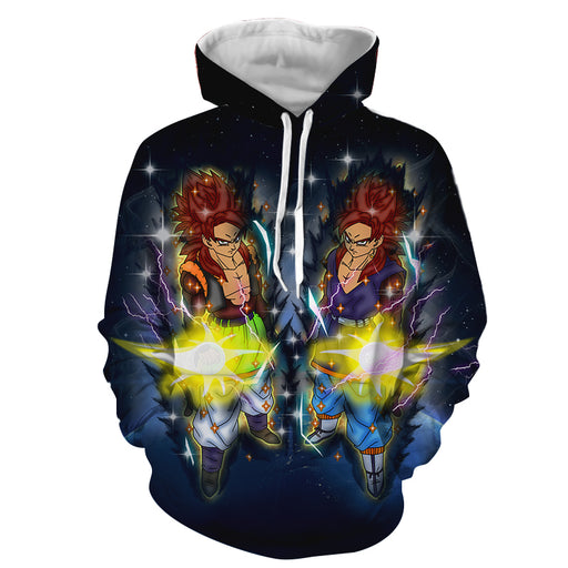 Dragon Ball Z Gogeta In Red Hair Super Saiyan 4 Form Hoodie