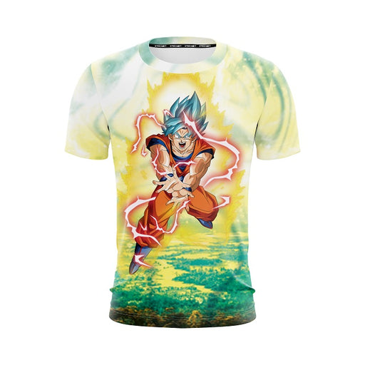Dragon Ball Z Goku In His Captivating Kamehameha T-Shirt