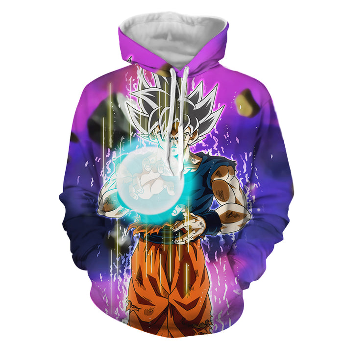 Dragon Ball Z Goku Ultra Instinct Form White Hair Hoodie
