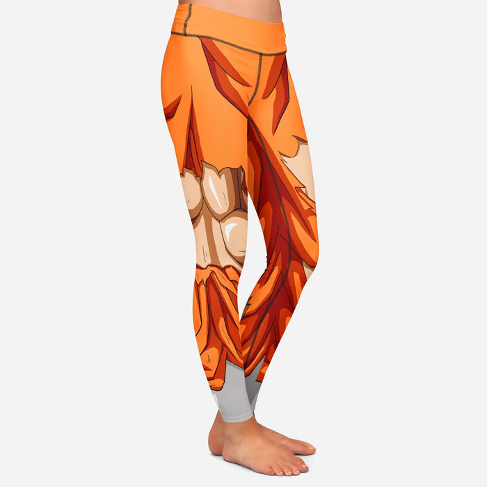 Dragon Ball Z Goku Women Cosplay Damaged Leggings Yoga Pants