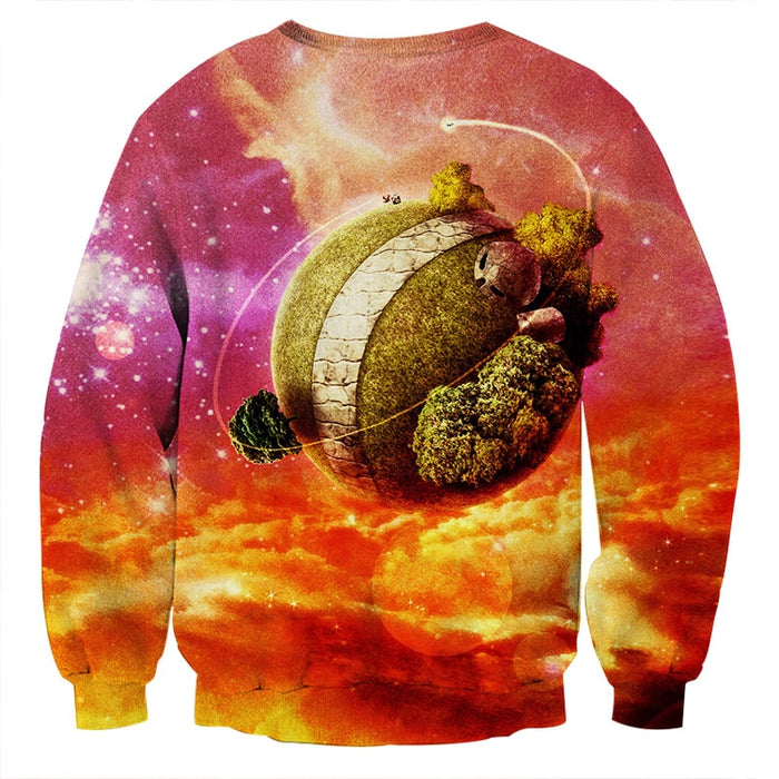 Dragon Ball Z Great King Kai Planet Cool Orange Sweatshirt