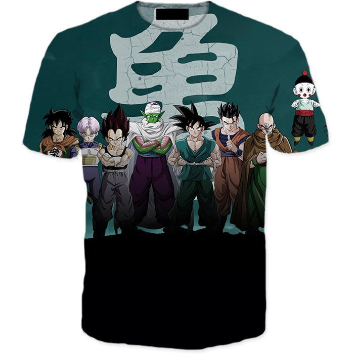 Dragon Ball Z Heroes Dark Black Badass 3D T-Shirt - Saiyan Stuff