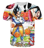 Dragon Ball Z Illustration Vegeta Prince of all Saiyans T-Shirt - Saiyan Stuff