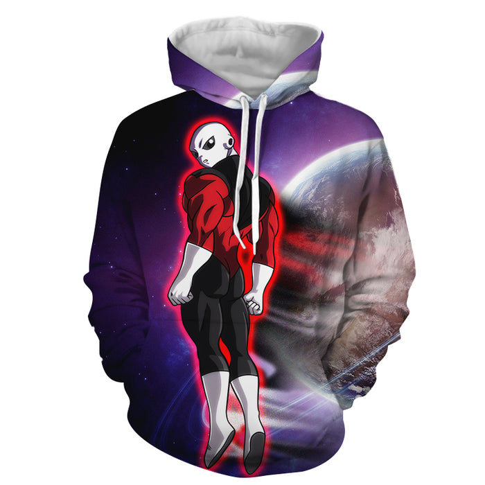 Dragon Ball Z Jiren The Gray Red Aura In Outer Space Hoodie