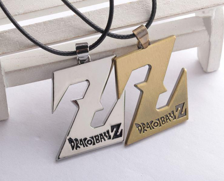 Dragon Ball Z Logo Necklace Pendant Gold Silver - Saiyan Stuff - 1