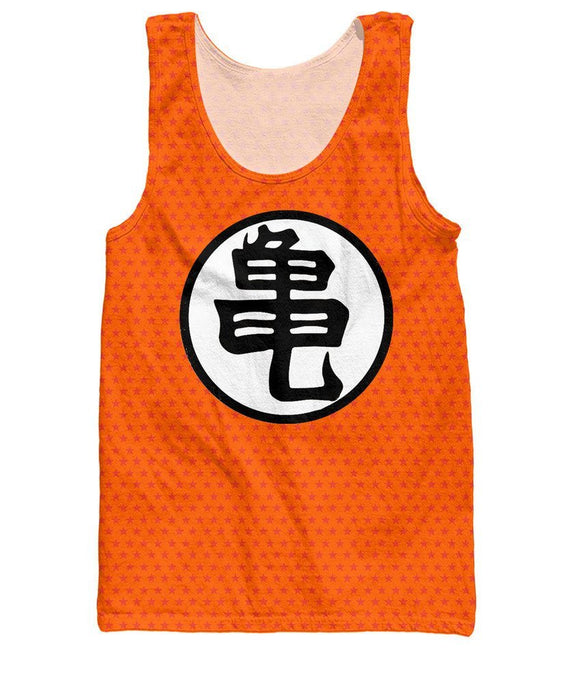 Dragon Ball Z Orange Kame Symbol Master Roshi Tank Top Saiyan Stuff