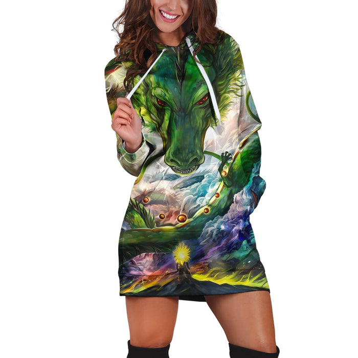 Dragon Ball Z Shenron Eternal Dragon Stylish Hoodie Dress