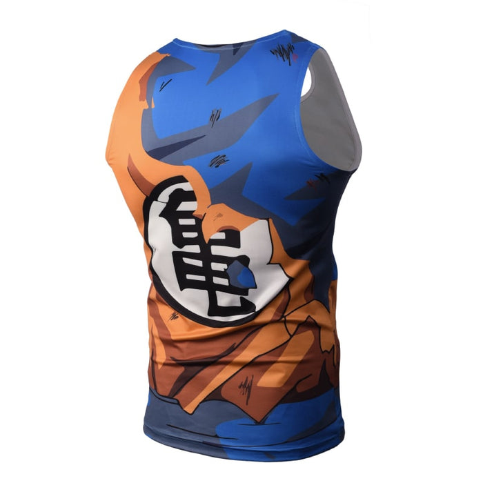 Dragon Ball Z Son Goku Master Roshi Symbol Torn Up Bruised Compression Tank Top