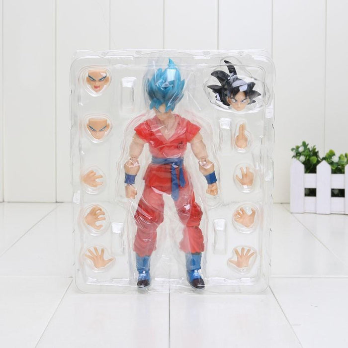 Dragon Ball Z Son Goku Super Saiyan Blue Resurrection F PVC Action Figure 16cm - Saiyan Stuff - 6