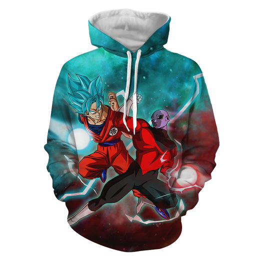 Dragon Ball Z Son Goku Versus Jiren The Gray Supreme Hoodie