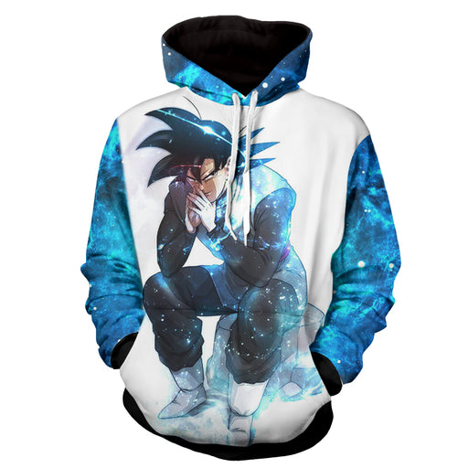 Dragon Ball Z Son Goku With His Tremendous Blue Aura Hoodie