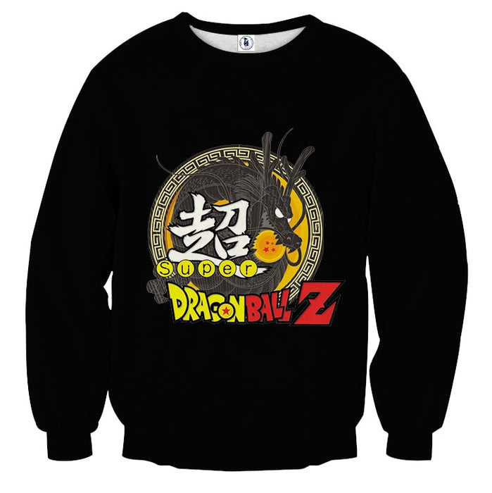 Dragon Ball Z Super Kanji Epic Dragon Spirit Shenron Sweater
