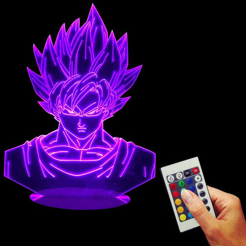 Cool Amp Unique Diy Dragon Ball Z Goku Vegeta Bedside Lamps